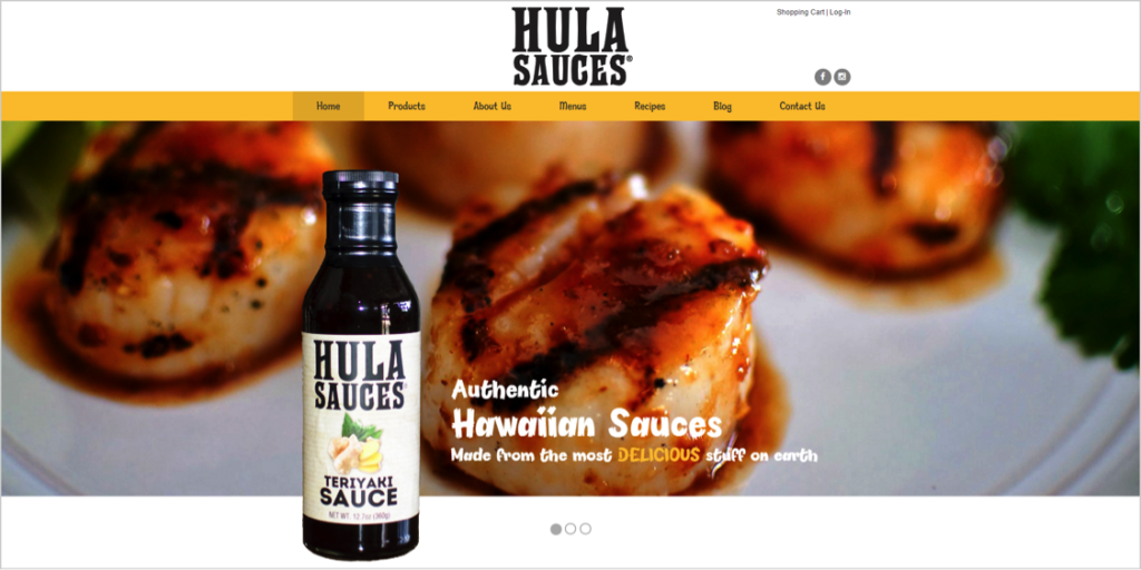 Hula Sauces Ocean City New Jersey Web Design
