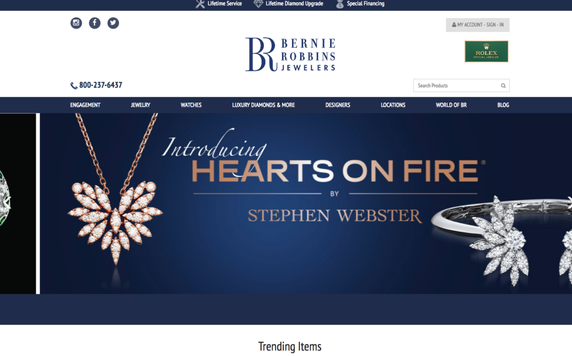 Luxury Jewelry Store: Design Updates by DotCom Web Designer in Somers Point New Jersey