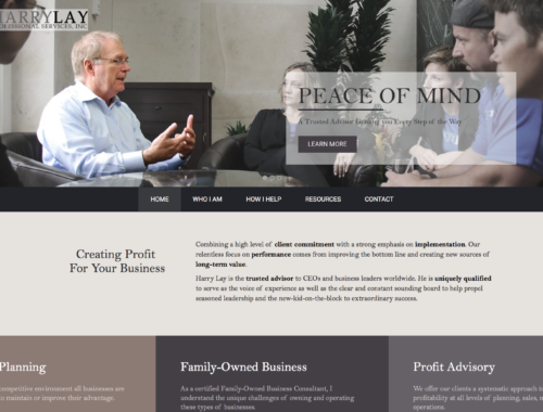 Harry Lay B2B Services Website Design