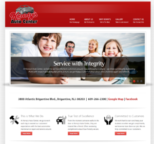 Brigantine NJ Website Design- Kenny's