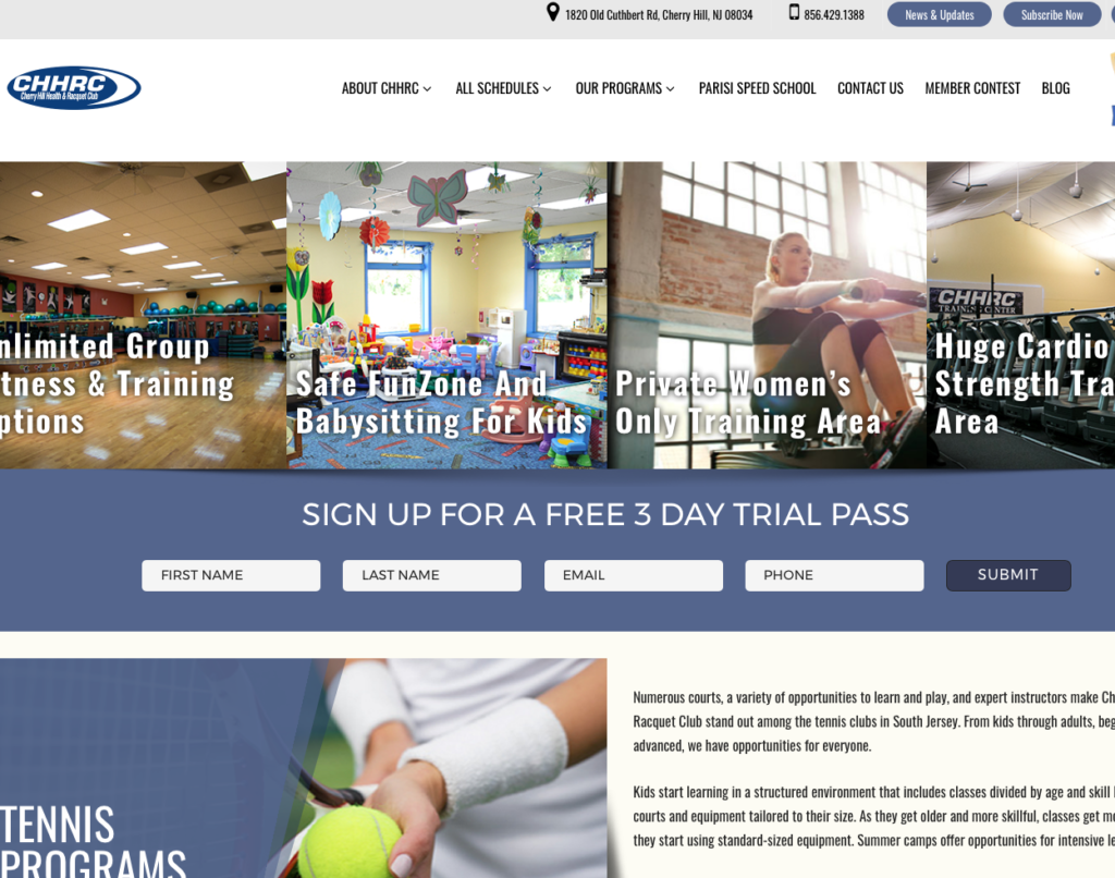 CHHRC Cherry Hill NJ Website Design