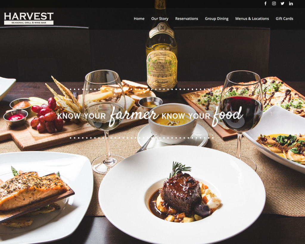 Moorestown NJ Website Design- Harvest