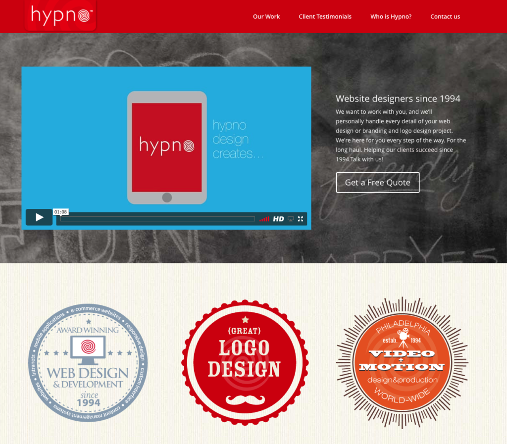 Moorestown NJ Website Design- Hypno