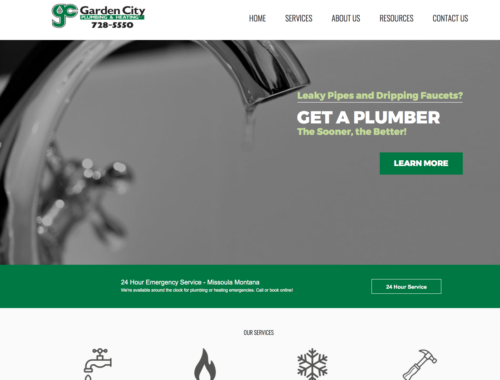 Garden City Plumbing website design