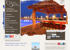 Ocean Club Cape May NJ website design