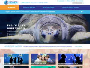 Aquarium Camden County NJ Website Design