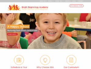 Bright Beginnings Gloucester County NJ Website Design