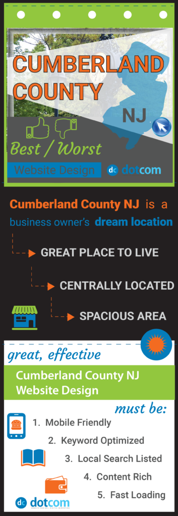 Cumberland County NJ Website Design pin