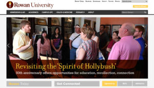 Rowan University Gloucester County NJ Website Design