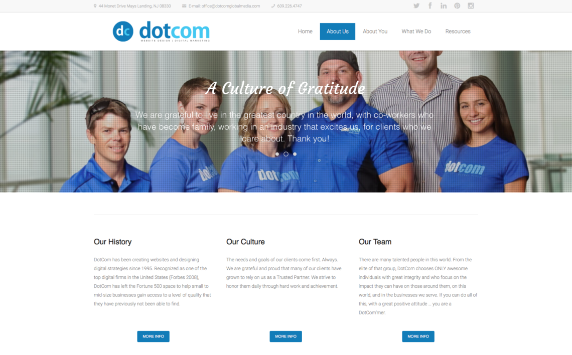 82caf29383ab5 The Best Way to Design a Web Page for ABOUT US from Dotcom Global Media