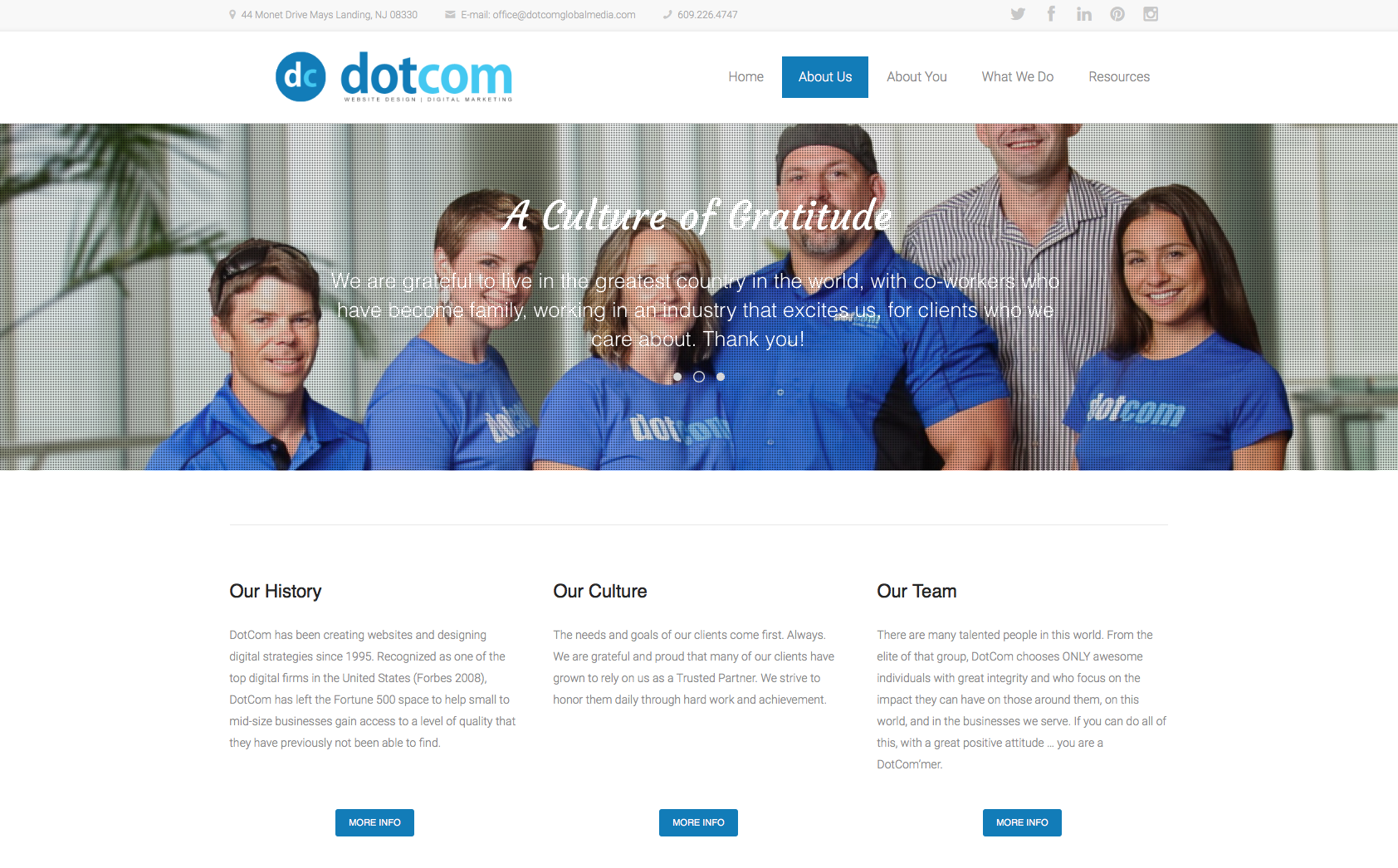 DotCom Global Media Website Design Blog