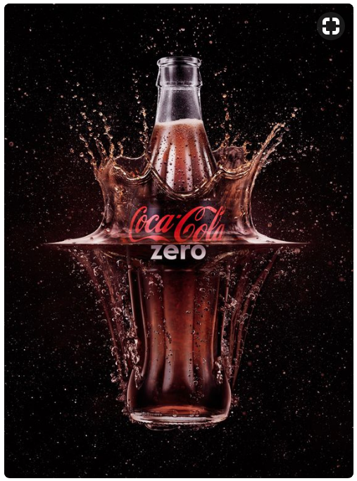 Product Photography - Coke bottle splash