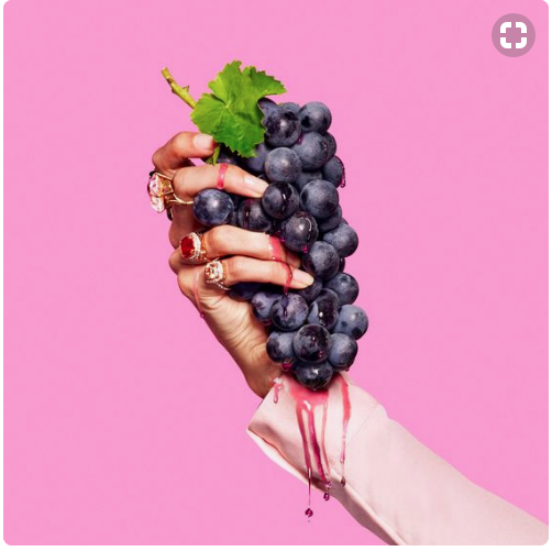 Product Photography - Crushed grapes with juice