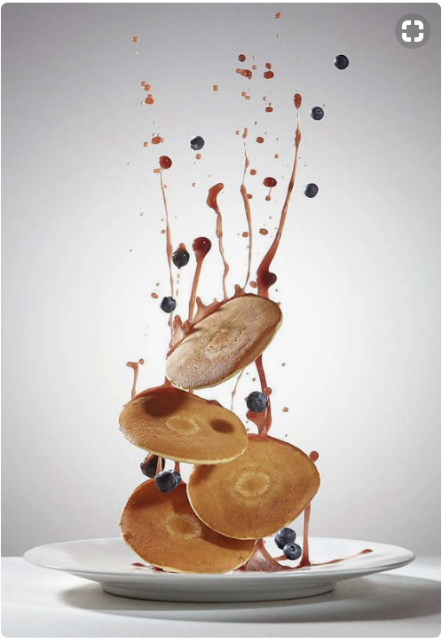 Product Photography - pancake stack with motion