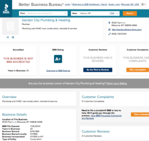 BBB - the best social proof examples