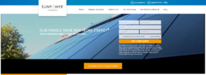 example of a solar energy company website